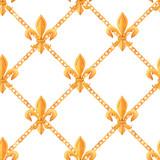 Golden baroque rich luxury vector pattern - 243805515