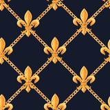 Golden baroque rich luxury vector pattern - 243805570
