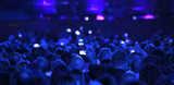 many people with modern mobile phone at live concert - 243811356