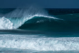 Perfectly shaped surfing wave - Banzai Pipline. The North Shore of Oahu, Hawaii - 243821562