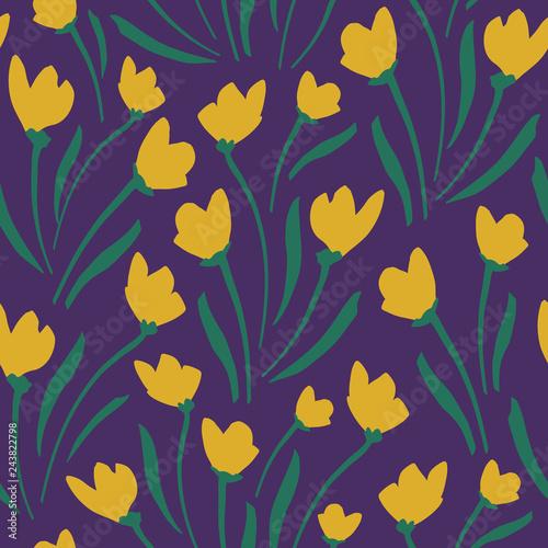 Flower Pattern. Endless Background. Seamless - 243822798