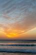 Spectacular sunset on the beach