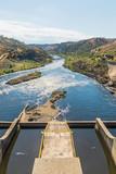 Landscape over the dam of Barragem do Fratel - 243844721