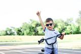 boy riding bike - 243856751