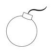 Round bomb symbol