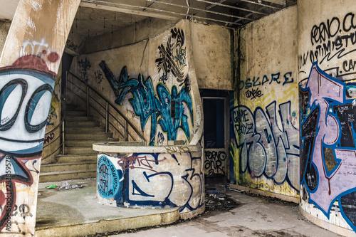 abandoned theme park - 243859578