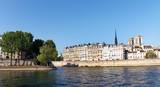 île Saint Louis  on Seine river in Paris city