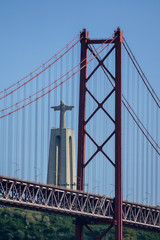 bridge in the sea, in Lisbon Capital City of Portugal © underworld