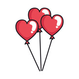 Heart shaped party balloons - 243869974