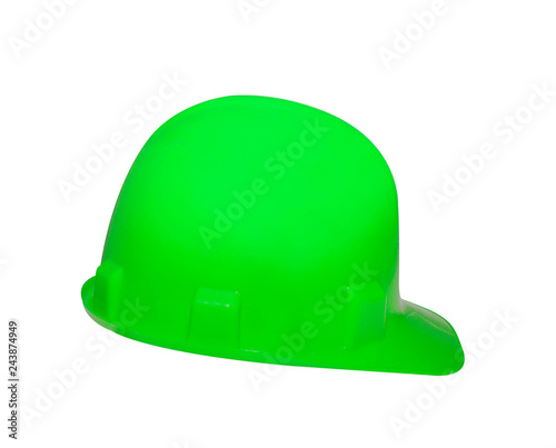 safety helmet isolated on white - 243874949