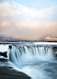 Sunrise at Godafoss Waterfall, Iceland
