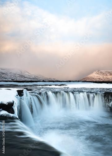 Sunrise at Godafoss Waterfall, Iceland