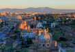 Quadro Rome, view of the city in the evening, the Forums, the Colosseum and the mountains
