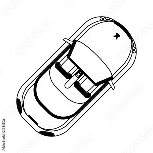 sport car topview - 243885126