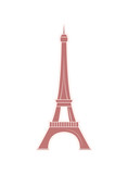 Eiffel Tower Travel Sticker with Famous Sight