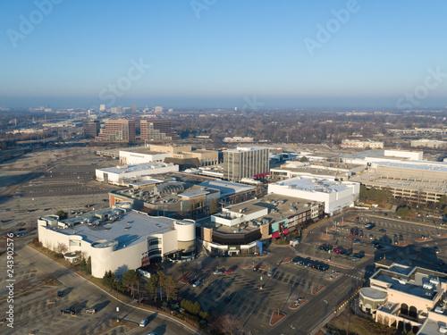 Suburban Shopping Center Aerial