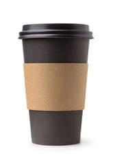Black take away coffee cup © Coprid