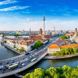 panoramic view at central berlin - 243912760