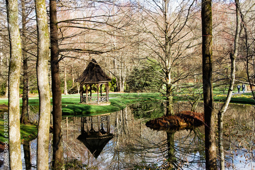 Formal Garden Landscape in Ball Ground Georgia USA