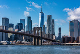 Fototapeta Nowy York - Brooklyn Bridge and New York skyline © Stuart Monk