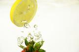 Wassertropfen, Früchte, Hintergrund