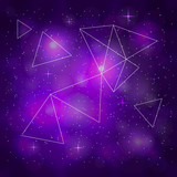 Fototapeta Kosmos - Violet outer space background. © Minur