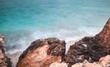 Coast of Mediterranean Sea. Long exposure - 243931953