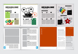 Corporate booklet or presentation templates. Easy for use in flyer, vector - 243937725