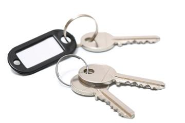 clé sur fond blanc