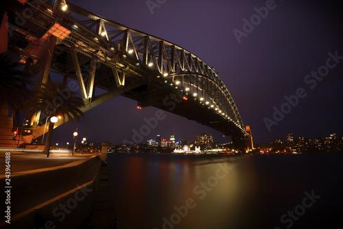 Sydney Harbor Bridge, Sydney, Australia at night