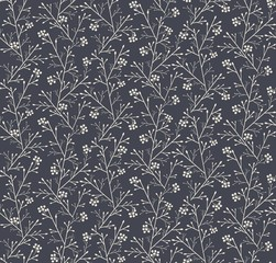 seamless pattern with fantasy forest with berries