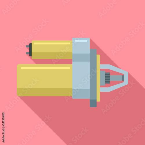 Sport car starter icon. Flat illustration of sport car starter vector icon for web design - 243990169