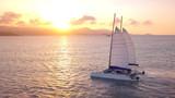 Yacht sailing near koh Samui island at sunset,  summer vacation journey,Thailand - 243994775