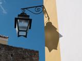 Retro lamppost in Evora, Portugal. - 244006750