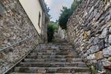 Fototapeta Na drzwi - Old narrow street in Portovenere or Porto Venere town on Ligurian coast. Italy © Elena Odareeva