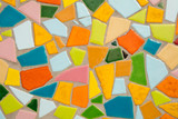 Detail of a multicolored glass mosaic - 244017180