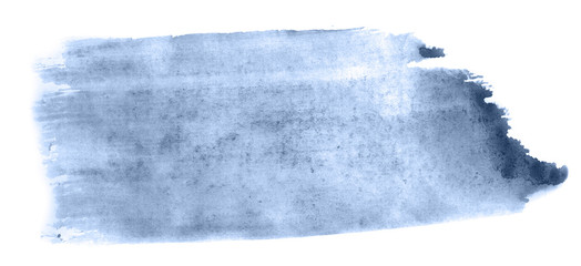 Abstract watercolor background hand-drawn on paper. Volumetric smoke elements. Blue, Navy Peony color. For design, web, card, text, decoration, surfaces. © colorinem