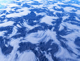 High altitude clouds over dramatic mountains 3d rendering background - 244021997
