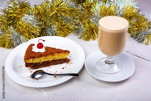 new year latte coffee cake