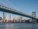 View of the Manhattan Bridge on a summer day - 244026115