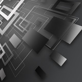Abstract bright gray background with squares