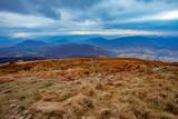 Landscape of autumnal peaks of the Carpathians. - 244058392