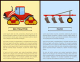 Plow Plowing Machine and Dodge Vector Illustration