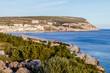 Vista panoramica de Sesimbra em Portugal