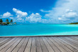 Leinwandbild Motiv tropical Maldives island with white sandy beach and sea