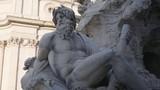 Statue of Zeus in Bernini's fountain of Four Rivers in Piazza Navona, Rome - 244083133