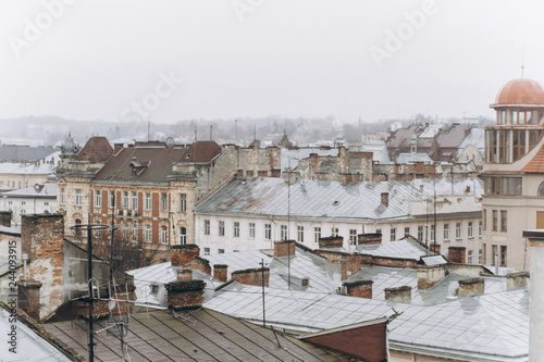 view of the city from the town hall