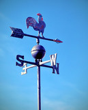steel vane that indicates the wind direction and cardinal points - 244150300
