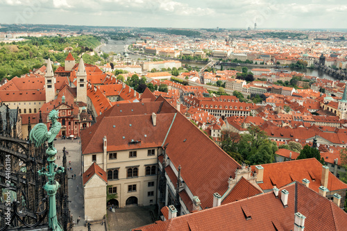 Fridge magnet View of Prague
