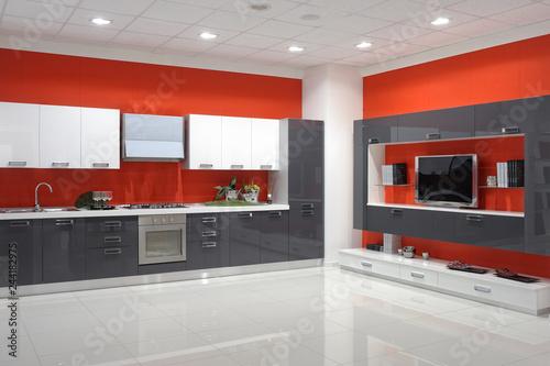 cucina moderna in un un\'esposizione di mobili | Buy Photos | AP ...